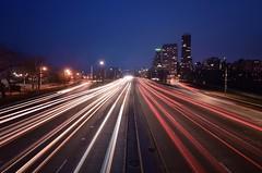 Leading Lights (Sathish-SKR) Tags: lighttrail lighttrailsphotography chicago lakeshoredrive lakeshore lights road longexposure nikon city citylights urban colors red white cars motor