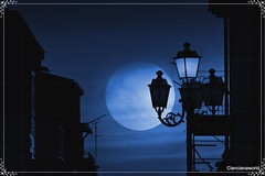 Night blue - Agosto-2016 (agostinodascoli) Tags: blu nightblue notte night blue photoshop cianciana sicilia nikon nikkor photopainting art digitalart agostinodascoli moon fullmoon nikonclubit