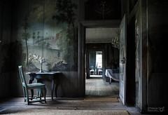 Interior (TorErikP) Tags: interior interir house hus gammel old chair table rooms doors drer stol bord dybde perspektiv perspective depth wallpainting veggmalerier vonechstedskagaarden vrmland sverige sweden