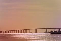 Niteroi bridge (maria manuela photography) Tags: architecture ocean bridge colors landscape travelphotography photography travel texture urban tourism traveltourism traveldestination travelandtourism sky sunset lights niteroi riodejaneiro brazil pastel pastelcolors mariamanuelaphotography