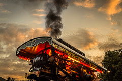 Sunset Traction. (ian.emerson36) Tags: sunset engine steam vehicle workhorse classic lights fairground festival canon clouds