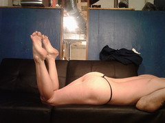 The pose, I  suppose (ericgieseking1) Tags: barefoot bareleg nude naked baresoles bareass bare barebutt butt cheeks thong fetish myassfeet feet soles sole toes