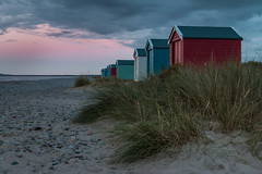 Beach Huts (Ginger Snaps Photography) Tags: beach huts findhorn bay building colour sunset cloud grass sand highland scotland sigma1835 sigma