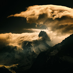 smoke on the water, fire in the sky (Andrew J Lee) Tags: patagonia chile torresdelpaine pentax 645z