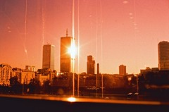 Warsaw. Summer 2016. (Marcin Kubiak) Tags: expiredfilm rollei velvia xpro 35mm analog believeinfilm cityscape city dream filmphotography grain poland sun tower urban warszawa summer
