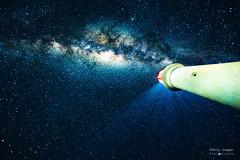 Show me the way (NikolajAlexanderPics) Tags: australia greatoceanroad milkyway stars night sky blue lighthouse beautiful colors dark
