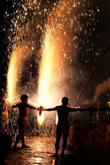 -- (m-miki) Tags: nikon d610 japan         shrine fireworks festival summer night rain
