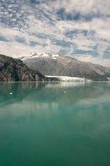 First Peek at Margerie (acheron0) Tags: alaska clouds glacier glacierbay green margerieglacier mountain nationalpark ocean water