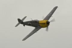 Flight 3, Hispano Buchon (Bf 109) Black 2, Wings and Wheels, 2016 (Peter Cook UK) Tags: 2 109 bf black buchon ha1112 hispano messerchmitt