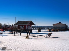 Cafe Regatta (Grand Mookster) Tags: nikon d610 travel finland helsinki winter caferegatta snow slide ice