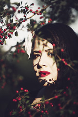 ... (MargaritaP.) Tags: people portrait portaits girl woman red berries redlips