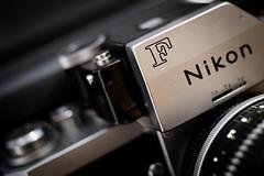 """F"", by Nikon. The Legend. (fcafca) Tags: thefirstletterofmyname macromondays nikon nikonf photomic ftn nikkor 35mm f2 nikkoro nonai analog argentique camera 1968 sonya7"