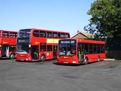 GAL E233 YX61DSY - 151 YX60FTU - BX BEXLEYHEATH BUS GARAGE - WED 17TH AUG 2016 (Bexleybus) Tags: go ahead goahead london bx bexleyheath bus garage depot kent adl dennis enviro 200 400 metrobus 151 yx60ftu e233 yx61dsy tfl route b14