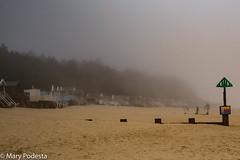 Mist - Wells beach (Mezzapod) Tags: wells wellsnextthesea beachhuts mist sand