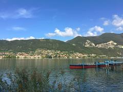 (Paolo Cozzarizza) Tags: italia lombardia brescia paratico acqua lago lungolago panorama molo piante