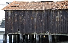 Corrugated Pier Building ... (sswj) Tags: architecturaldetail abstractreality rusted corrugated oldbuilding pierbuilding historicbuilding chinacamp sanrafael sanpablobay marincounty northerncalifornia california dslr fullframe rustedmetal composition scottjohnson availablelight existinglight naturallight nikon d600 nikkor28300mm weathered
