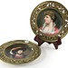 164. Pair of 19th Century Pictoral Porcelain Plates