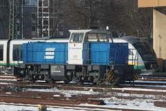 Regentalbahn diesel locomotive D03 at Regensburg Hbf (Marcus Wong from Geelong) Tags: vienna railroad travel train germany austria frankfurt rail railway deutschebahn ice3 europe2012