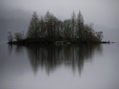 Misterious Island (explore) (kenny barker) Tags: fog scotland trossachs scottishlandscape lochchon panasoniclumixgf1 welcomeuk kennybarker