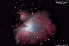 Orion Nebula M42 (The Dark Side Observatory) Tags: sky stars timelapse telescope nebula astrophotography orion m42 astronomy deepspace meade orionnebula deepsky Astrometrydotnet:status=solved Astrometrydotnet:version=14400 Astrometrydotnet:id=alpha20130230513429 tomwildoner