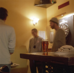 (Josh Sinn) Tags: color 120 6x6 film beer glass bar mediumformat table md pub fuji meetup maryland baltimore 100 reala northave yashicamat124g filminbaltimore joshsinn liamflynnsalehouse joshuasinn