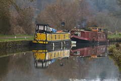 Narrowboats {EXPLORED 17.02.2013} (smir_001 catching up) Tags: winter england tourism water canal bath somerset british february stoke limpleystoke avon navigation waterways kennet narrowboats limpley ruby10 thekennetandavoncanal