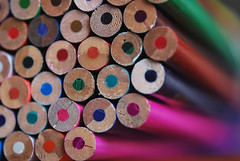 Just pencils (Tony Dias 7) Tags: red white colour macro green up pencils dof close small bllue