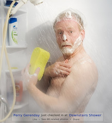 52/365 -- Social Intrusion (Perry Gerenday Photography) Tags: shower startled steam sponge day52 suds tmi socialmedia intrusion day52365 3652013 365the2013edition 21feb13