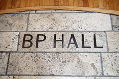 BP Hall Sign in Travertine Marble (Barry Wallis) Tags: california usa losangeles waltdisneyconcerthall barrywallis bphall