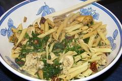 Chicken Festive Pasta (cseeman) Tags: food chicken pasta greens cookingwithcorey recipetodo recipestodo chickenfestivepasta