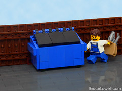 LEGO Dumpster (bruceywan) Tags: trash dumpster lego bin instructions minifig photostream moc brucelowellcom