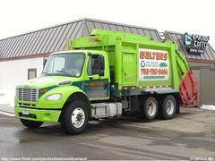 Walters Recycling and Refuse Service 49 (TheTransitCamera) Tags: green truck garbage rear collection lime chassis refuse recycling load walters heil freightliner