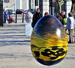 Floating Egg (alun.disley@ntlworld.com) Tags: people liverpool easter nikon illusion eggs albertdock