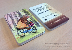Illustrators Business Cards (Hi Ni) Tags: bear cute art bicycle graphicdesign artist designer illustrator custom businesscard cardgame personalised forkids mailer memorycards characterdesign llustration promotionalmaterial forchildren roundedcorners moocards moobusinesscards moocom greetingcarddesign childrensbookillustrator artistpromo illustratorforhire forlicense artistbusinesscard childrensbookdesigner