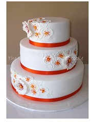 amber (The Whole Cake and Caboodle ( lisa )) Tags: orange flower cakes cake tangerine amber piping caboodle piped mepstead