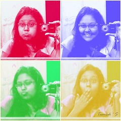 .. and your love colored me like rainbow  (tasmi.loves.life ) Tags: camera blue light red portrait green love colors girl smile yellow collage hair glasses rainbow eyes colorful shades human laugh bubble fade omg spectacles astonished duckface sonydsc w310 blubberface tasmiahsphotostream tasmiahtajin