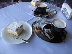 Coffee and cream cake, Lake Bled (duncan) Tags: winter slovenia bled gorge vintgargorge vintgar 2013 triglavski kremnarezina