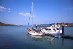 Sailing (sydbad) Tags: blue sea sky beach canon eos boat sailing stewart rod yatch awanaportomalai ef24105mmf4lisusm 5dmk2