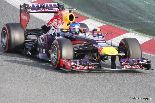 Sebastian Vettel in his Red Bull at Formula One Winter Testing, 3rd March 2013