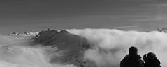 Panorama (Xenaldo) Tags: bridge ski station montagne lumix blackwhite couple pic nb panasonic neige nuages pyrnes midipyrnes saintlarysoulan fz45