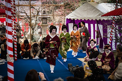 Geiko Umechika, Umeshizu, Naokazu (Laruse Junior) Tags: voyage park trip travel japan canon temple kyoto shrine market tea maiko geiko geisha 7d kitano teaceremony parc march japon sanctuary vacance meiko sanctuaire tenmagu plumblossomfestival naokazu umeshizu umechika kitanotenmagushrine crmonieduthfestivaldelafleurdeprune baikasaifestival noakazu