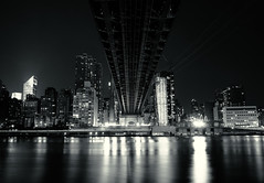 Under the Ed Koch Queensboro Bridge - New York City (Vivienne Gucwa) Tags: nyc newyorkcity longexposure blackandwhite newyork skyline architecture night cityscape skyscrapers manhattan sony eastriver manhattanskyline gothamist queensborobridge curbed nycskyline urbanphotography citynight nycnight 59thstreetbridge rooseveltislandtram queensbridge wnyc newyorkcityskyline newyorknight nycphoto a99 cityphotography newyorkphoto newyorkcityphotography manhattannight rooseveltislandview edkochqueensborobridge viviennegucwa viviennegucwaphotography blackandwhitenewyorkcityphotography sonya99 sonyphotographers longexposurenyc midtownmanhattanskyscapers