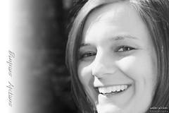 Simply Smiling (peter pirker) Tags: portrait bw woman smile canon austria österreich kärnten carinthia frau lachen schwarzweis peterfoto eos550d peterpirker
