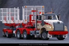 Flckr01 (2LegoOrNot2Lego) Tags: truck star us big log suspension logging rig western trailer dolly mack pbs peterbilt kenworth freightliner payloader easysteer