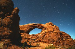 Windows District, Arches National Park (EXPLORED!) (edewar photography) Tags: park red usa canada west window rock night plane photography star hotel utah cool nice others arch shots south awesome centre united arches center double astro best stellar national astrophotography western moab states visitor incredible agronomy