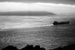 steaming out to sea (kleemo) Tags: sanfrancisco blackandwhite bw blackwhite goldengatebridge goldengate davidkleeman davekleeman davekleemancom dak|foto