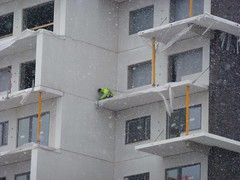 Nyckelperson (brandsvig) Tags: winter snow march skne vinter sweden flats sverige malm sn buildingsite bygge 2013