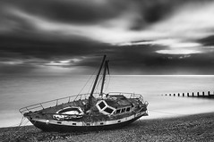 Mary Celeste (simon.anderson) Tags: longexposure seascape beach boat decay vessel rusted eastbourne stranded eastsussex marooned runaground maryceleste simonanderson nikon1685 nikond300s lee06ndgrad hitechprostopper