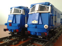 Blue Pullman DMU Engines (bricktrix) Tags: blue train lego pullman