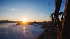 IMG_9804 (shaffleboy) Tags: bridge winter sunset sky ice canon river l 5d ef 1740 clearsky samara markii sok iceriver